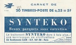 France Carnet Decaris Synteko Serie 8 64 Daté Du 14 5 1964 Avec Puc Air France Caravelle Et Boeing - Definitives