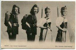 """Schweiz Suisse 1910: Bild-PK CPI  """"Le Nouvel équipement / Die Neueste Ausrüstung"""" - Uniformen"""
