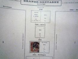 COLLECTION GRANDE- BRETAGNE Feuille Album Maury Ancien - A Voir - 8 Scans - Stamps