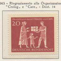 """PIA - GERMANIA - 1963  : Organizzazioni Benefiche """"Cralog"""" E """"Care""""   -   (Yv 262) - [7] República Federal"""
