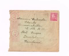 Lettre De Liège à Engers.Censure. - Guerre 40-45