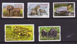 Australia 2016 Endangered Wildlife Five Self-adhesives Used - 2010-... Elizabeth II