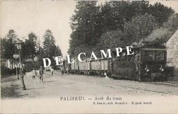 Paliseul - Arrêt Tram Avec Tram Et Animation - Circulé 1920 - E. Desaix - SUPER - Paliseul