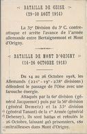 CPA Bataille De Guise 1914 - Mont D'Origny Inauguration Du Monument Aux Morts - Guise