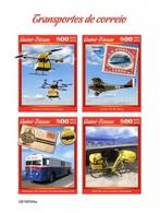 Guinea Bissau 2019, Postal Trasport, Drone, Plane, Bike, 4val In BF IMPERFORATED - Bussen