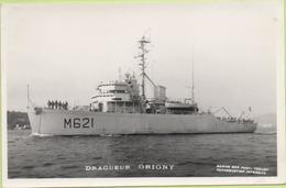 DRAGUEUR ORIGNY   / Photo Marius Bar, Toulon / Marine - Bateaux - Guerre - Militaire - Warships