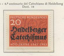 PIA - GERMANIA - 1963 : 4° Centenario Del Catechismo Di Heidelberg  -   (Yv 268) - [7] República Federal