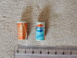 Miniatures Canettes COCA-COLA Et PEPSI - Cans