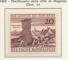 PIA - GERMANIA - 1962 : Bimillenario Della Città Di Magonza  -   (Yv 247) - [7] République Fédérale