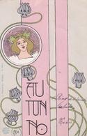 Liberty  ,  Autunno  -  Firmata  Fesini  -  Edit.  A. Guarneri, Milano  ,  N.  10014 - Non Classificati
