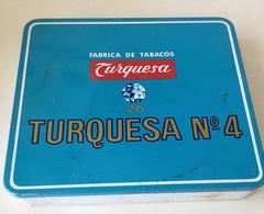 Tobacco Tin, Cigarettes Tin,Beckley, Fabrica De Tabacos Turquesa 20, N4 - Boites à Tabac Vides