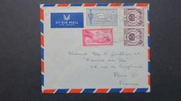 Cover From Apia Western Samoa 1958 To France Paris , Lettre Des Samoa Pour La France 1958 - Samoa