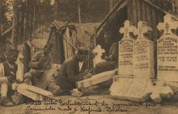 Serbs Soldiers Making Graves For Their Companions Killed In Kajmak Celan . Tailleurs De Pierres Tombales - Serbie