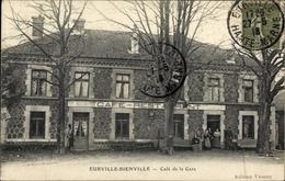 Cp Eurville Bienville Haute Marne, Café De La Gare - Autres Communes