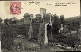 Cp Saint Michel De Boulogne Ardèche, Ruines Du Chateau - Sonstige Gemeinden
