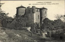 Cp Saint Alban Sous Sampzon Ardèche, Chateau De Baumefort - Sonstige Gemeinden
