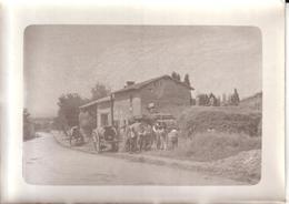 AGRICULTURE - PHOTO NON SITUEE - SCENE DE BATTAGE , BATTEUSE , MACHINE A VAPEUR - Professions