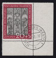 140 Marienkirche Lübeck 20 Pf. Als Ecke Unten Rechts, WARBURG 19.2.52 - BRD