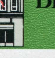 2779 Leipziger Messe 10 Pf UR-Paar PLF Gebrochene Hauswand, Feld 48, ESSt Berlin - Engraving Errors