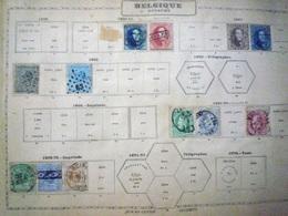 COLLECTION BELGIQUE Feuille Album Maury Ancien - A Voir - 5 Scans - Stamps