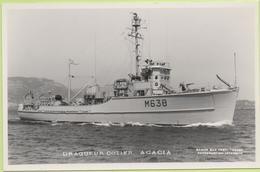 DRAGUEUR COTIER  ACACIA   / Photo Marius Bar, Toulon / Marine - Bateaux - Guerre - Militaire - Warships