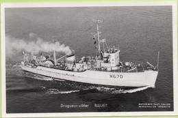 DRAGUEUR-CÔTIER  BLEUET   / Photo Marius Bar, Toulon / Marine - Bateaux - Guerre - Militaire - Warships