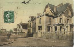 BEAUMONT-SUR-OISE  -  La  Rue  De  La  Virtuté  /  Carte  Toilée - Beaumont Sur Oise