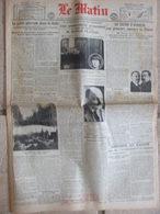 Journal Le Matin (23 Janv 1923) Grève Générale Ruhr - Anarchiste Assassine - Légion D'Honneur - Réponse Au Kaiser - Periódicos