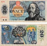 Tchécoslovaquie  20 Korun - Czechoslovakia