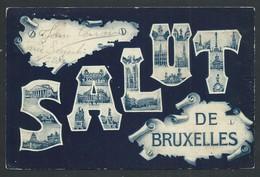 +++ CPA - Carte Fantaisie - BRUSSEL - Salut De BRUXELLES    // - St-Josse-ten-Noode - St-Joost-ten-Node