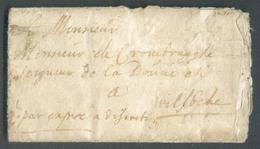 LAC De PITTHEM Le 23 Février 1693 Vers Wilsbeke + Manuscrit 'par Expres ...'.  Rare Et Intéressant - 14219 - 1621-1713 (Spanische Niederlande)