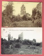 OJ - Huy - Lovegnée - 2 Cartes Des Ruines Du Vieux Château De Beaufort - Déstockage A Petit Prix - Huy