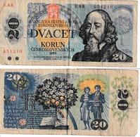 Tchécoslovaquie  20 Korun - Tchécoslovaquie