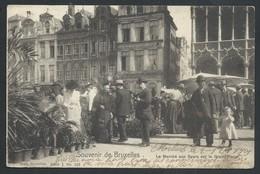 +++ CPA - BRUSSEL - Souvenir De BRUXELLES - Le Marché Aux Fleurs Sur La Grand'Place - Nels Série 1 N° 133   // - Marchés