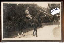 1315 CARTE PHOTO/PHOTO DE MILITAIRE A CHEVAL A IDENTIFIER TTB - Cartoline