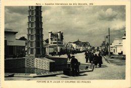 CPA PARIS EXPO 1925 Fontaine R. LALIQUE (861995) - Mostre