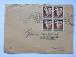 GERMANY 1941 Cover Hamburg To Breslau Tied With Modestadt Wien X 4 - XOX Biskuitfabrik Sticker To Rear - Briefe U. Dokumente