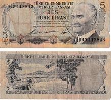 Turquie 5 Lira - Turkey