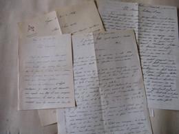 5 LETTRES AUTOGRAPHES SIGNEES DU GENDARME ET VOYAGEUR TRIFFE 1929-57 VIE QUOTIDIENNE MARQUISES TAHITI à T'SERSTEVENS - Autógrafos