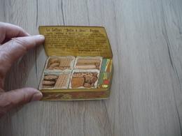 Magnifique Pub Publicité Chromo Litho Biscuits Pernot Coffret Boîte à Jeux Cartes - Publicités