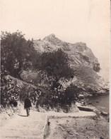 TAORMINA TAORMINE Sicile 1926 Descente Sur Isola Bella Recca  Photo Amateur Format Environ 5,5 Cm X 7,5 Cm - Lieux
