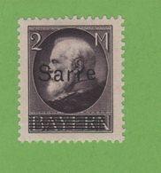 Faux Sarre N° 28 2 M Gomme Charnière - 1920-35 Società Delle Nazioni