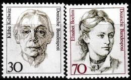 Série De 2 Timbres-poste Gommés Neufs** - Série Courante Käthe Kollwitz Elisabet Boehm - N° 1320-1321 (Yvert) - RFA 1991 - [7] Federal Republic