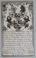 Vignette Héraldique XVIIIème - Jean De Nepom., Jacques, Comte Et Seigneur D'Edling, Baron De Saullenbourg - Ex-libris