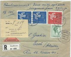 Ernest Deitz, Médecin-Dentiste, Ettelbruck - Einschreibebrief Versiegelt - Stempel 07-01-1964  Nach Esch-Alzette - Lettres & Documents