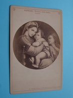 RAPHAEL : Madonna Della Sedia Florenz ( Photo CABINET 53 > F & O Brockmann's Dresden / See Photo ) ! - Beroemde Personen