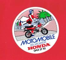 1 Autocollant  Sport Moto MOTOMOBILE DES VACANCES HONDA DAX ST 70 - Autocollants