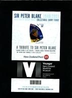 NEW ZEALAND - 2009  SIR PETER  BLAKE   50 C. IMPERF  MS  MINT NH - Blocks & Kleinbögen