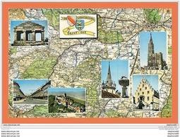 A628 / 077  67 - De Strasbourg à Saint Die Carte Géographique Multivues - France