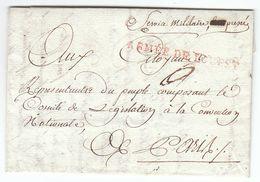 France An 3 / 1795 ARMEE DE L'OUEST En Rouge, Police Militaire, Guerre En Vendée, Saumur Pour Paris (s89) - Sellos De La Armada (antes De 1900)